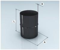 """Адаптер ММ эмалированный черный D120 (0,8мм) AGNI - Интернет-магазин строительных и отделочных материалов, кровли, фасадов, печей, каминов Компании """"Интер -Технология""""."""