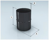"""Адаптер ММ эмалированный черный D200 (0,8мм) AGNI - Интернет-магазин строительных и отделочных материалов, кровли, фасадов, печей, каминов Компании """"Интер -Технология""""."""