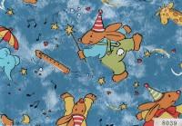 """D&B Пленка 0,45м 8039 детская Зайцы-волшебники синий - Интернет-магазин строительных и отделочных материалов, кровли, фасадов, печей, каминов Компании """"Интер -Технология""""."""